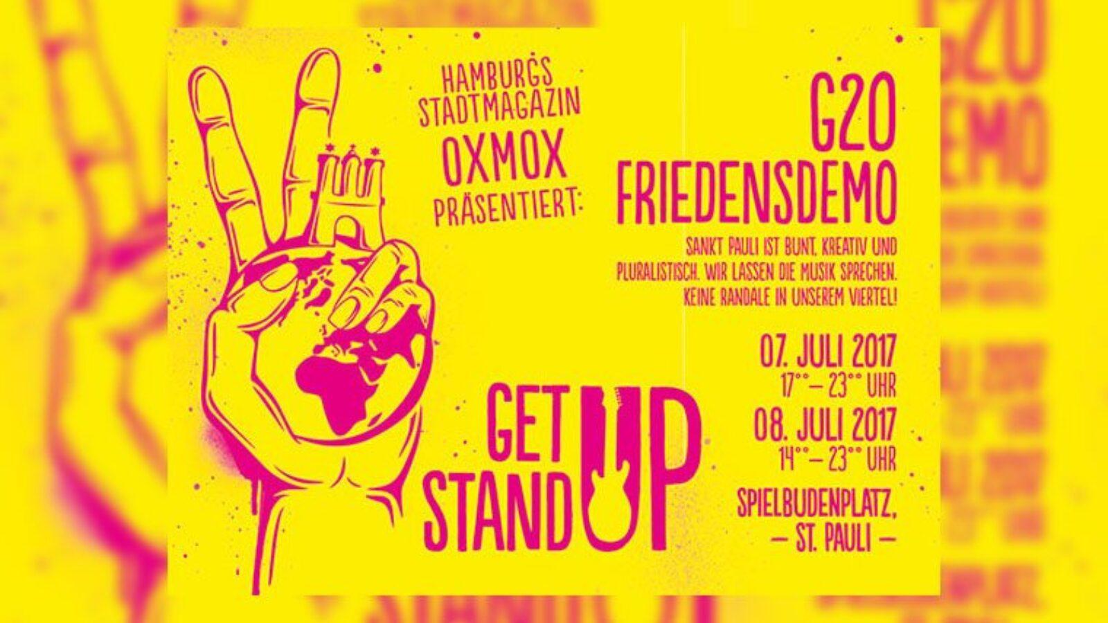 Get Up Hamburg – G20 Friedensfest 07.+08.07.17