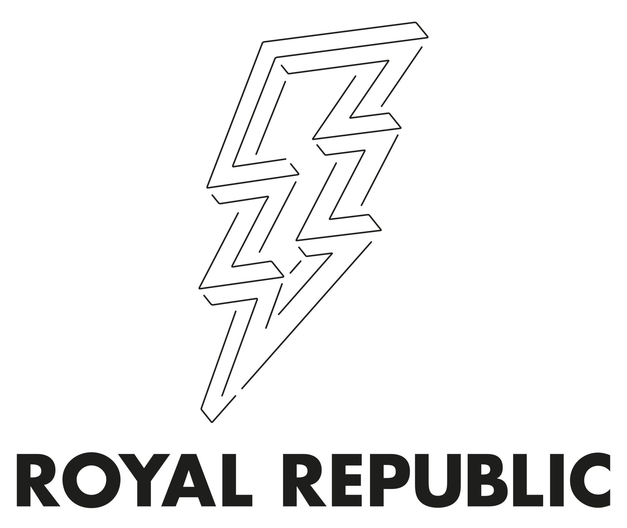RR Boltlogoword 2019 black - Royal Republic: Fotos mit Schuss