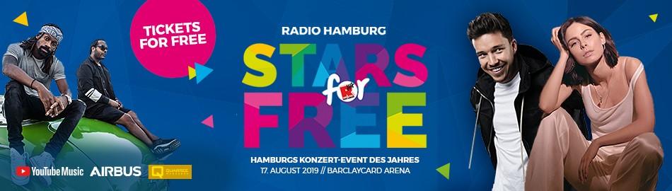 Stars for free – Die beliebte Eventreihe erstmals in Hamburg