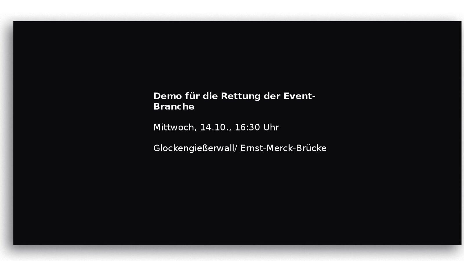 DEMO: Das Ende der Event-Branche?