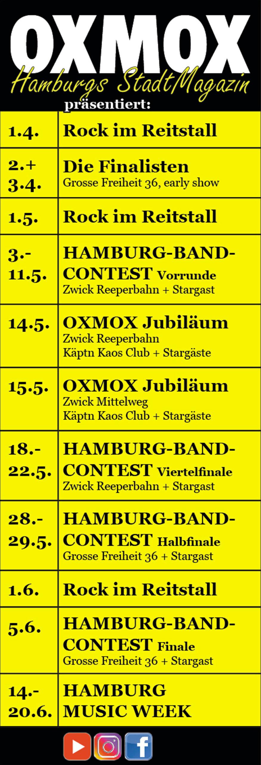 AZ OXMOX praesentiert scaled - OXMOX präsentiert Rock-Konzerte!