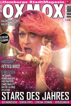Februar Magazin OXMOX 303x450 - Leserbriefe: Willkommen Valery Pearl!