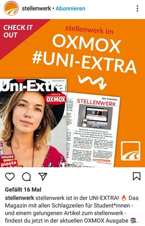 UNI EXTRA 289x450 - Leserbriefe: OXMOX-Pärchen & Poeten